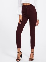 Burgundy High-Rise Jean